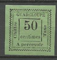 GUADELOUPE TAXE N° 12 NEUF* CHARNIERE / Signé CALVES / - Guadeloupe (1884-1947)