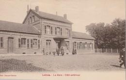 Lobbes   La Gare  Coté Extérieur  Animée N'a Pas Circulé - Lobbes