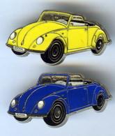 Lot De 2 Pin's Tirage Limité 500 Ex COX COCCINELLE VOLKSWAGEN Voiture Automobile - Volkswagen