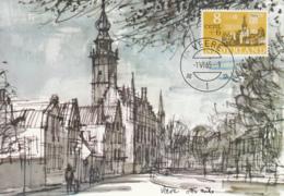 Netherlands 1965 Maxicard Scott #B397 8c + 6c Veere - Cartes-Maximum (CM)