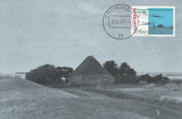 Netherlands 1987 Maxicard Scott #718 65c Farm Field, Groningen Province - Cartes-Maximum (CM)