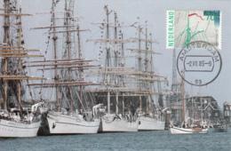 Netherlands 1985 Maxicard Scott #673 70c Sailboat Rigging SAIL 85 Amsterdam - Cartes-Maximum (CM)