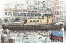 Netherlands 1985 Maxicard Scott #672 60c Nautical College Bicentenary - Cartes-Maximum (CM)