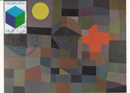 Netherlands 1970 Maxicard Scott #B465 12c + 8c Toy Block - Cartes-Maximum (CM)