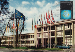 Netherlands 1974 Maxicard Scott #519 45c Council Of Europe, 25th Anniversary - Cartes-Maximum (CM)