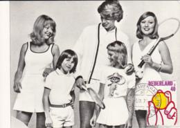 Netherlands 1974 Maxicard Scott #514 40c Royal Dutch Lawn Tennis Association, 75th Anniversary - Cartes-Maximum (CM)