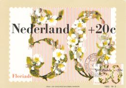 Netherlands 1982 Maxicard Scott #B577 50c + 20c White Blossoms Floriade '82 - Cartes-Maximum (CM)