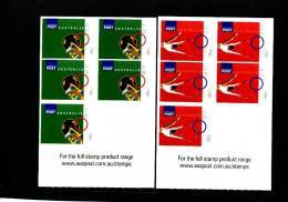 AUSTRALIA - 2008  OLYMPIC GAMES  TWO  SELF-ADHESIVE SHEETLETS  MINT NH - Blocchi & Foglietti