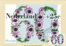 Netherlands 1982 Maxicard Scott #B578 60c + 25c Anemones Floriade '82 - Cartes-Maximum (CM)