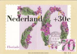 Netherlands 1982 Maxicard Scott #B580 70c + 30c African Violets Floriade '82 - Cartes-Maximum (CM)