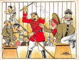 Militaire . 39/45.n° 46489. Lenine Hitler.caricature.cirque. Illustrateur Asti.14x10.5 Cm. - Weltkrieg 1939-45