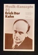 Libri E Riviste - Musik-Konzepte 85 - Erich Itor Kahn - Ed. Text+Kritik - Bücher, Zeitschriften, Comics
