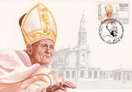Portugal 1982 Maxicard Scott #1539 10e Pope John Paul II, Fatima Cathedral - Cartes-maximum (CM)