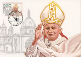 Portugal 1982 Maxicard Scott #1540 27e Pope John Paul II, Sameiro Cathedral - Cartes-maximum (CM)