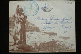 France Lettre FM Algérie Illustrée Jomone Lafayette 1956  6eme Légion Bis De Gendarmerie Mobile - Storia Postale