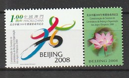 MACAU 2001 Scott 10672008 Olympics (Joint Issue With PRC And HK) NH - 1999-... Región Administrativa Especial De China