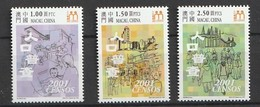 MACAU 2001 Scott 1070-72Census 3v NH - 1999-... Región Administrativa Especial De China