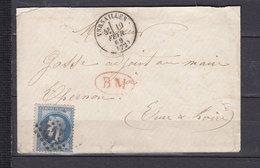 FRANCE 29 OBL VERSAILLES + BM  ROUGE  SEINE ET OISE - 1849-1876: Période Classique