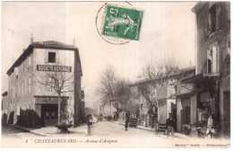 CPA BOUCHES-du-RHONE.CHATEAURENARD.AVENUE D'AVIGNON - Chateaurenard