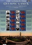 GREAT BRITAIN - 2008   1908 OLYMPIC GAMES  COMMEMORATIVE SHEET - Fogli Completi