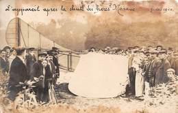 BOISSY SAINT LEGER - Carte Photo - Accident D'avion - Monoplan - L'appareil Après La Chute Des Frères MORANE - Boissy Saint Leger