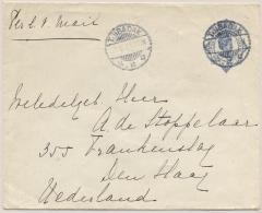 Nederlands Indië - 1921 - 12,5 Cent Wilhelmina In Ovaal, Envelop G42 Van LB TJIBADAK Naar Den Haag / Nederland - Indes Néerlandaises