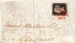Involucro Di Piego Per Glasgow Viaggiato 9 Agosto 1840 - Buona Qualità - 1840-1901 (Regina Victoria)