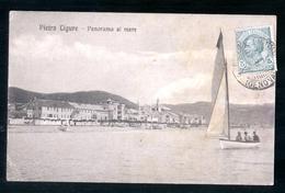 PIETRA LIGURE - SAVONA - 1916 - PANORAMA AL MARE - Savona