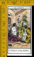Santino Dipinto A Mano S. Ciriaco E Comp. - Images Religieuses