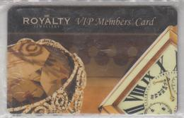 ISRAEL ROYALTY JEWELRY VIP MEMBERS CARD - Andere Sammlungen