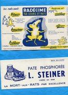 """2-BUVARD- RATICIDES--""""RADECIME"""" +pate PHOSPHOREE- Illustrés --années 30 - Buvards, Protège-cahiers Illustrés"""