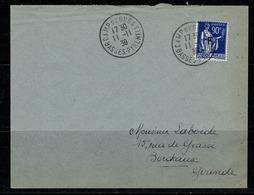 France 368 Sur Lettre De Camp De Gurs à Bordeaux 11-11-1939 - Frankrijk