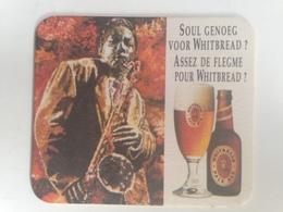 Posavasos Cerveza Whitbread, Londres, Reino Unido. Bélgica. Años '90. Música, Saxofón - Sous-bocks