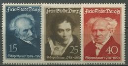 Danzig 1938 150. Geburtstag Von Arthur Schopenhauer 281/83 Mit Falz - Danzig
