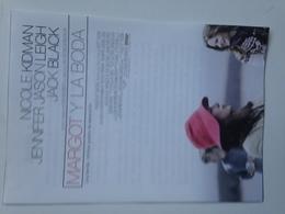 Folleto De Mano. Película Margot Y La Boda. Nicole Kidman. Jennifer Jason Leigh. Jhon Turturro - Merchandising
