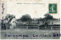 BAUGE - ( Maine Et Loire ), Chateau-Coin, Un Jour De Courses, Saut D'obstacles, écrite, Peu Courante, BE, Scans. - Autres Communes