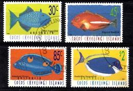 COCOS-ISLANDS 1996 Mi.nr.350-353 Fische  OBLITÉRÉS / USED / GESTEMPELD - Cocos (Keeling) Islands