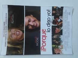 Folleto De Mano. Película Porque Lo Digo Yo. Diane Keaton. Mandy Moore. Tom Everett Scott - Merchandising
