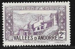 Andorra, Fr.,scott # 24 Mint Hinged Meritxell, 1932 - French Andorra