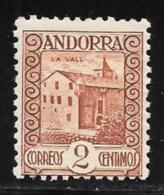 Andorra, Sp.,scott # 25 Mint Hinged La Vall. 1937 - Spanish Andorra