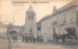 MONSURES  -  L'église  - Café Pernéel .tres Animée ( Belle Carte ) - Other Municipalities