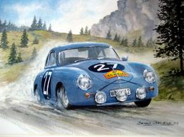 Liège-Rome-Liège Rally 1959  -  Porsche 356  -  Pilotes: Buchet/Strahle  -  15x10cms PHOTO - Rallyes