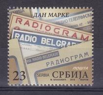 Serbia 2018 Stamp Day Radio Belgrade Radiogram MNH - Serbia