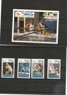 DOMINIQUE J.O. D'été De BARCELONE Année 1990 N°Y/T : 1231/34** Et Bloc N° 170** - Dominica (1978-...)