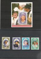 DOMINIQUE 90ème Anniversaire S.M. Reine Elisabeth II  Année 1990 N°Y/T : 1227/30** Et Bloc N° 169** - Dominique (1978-...)