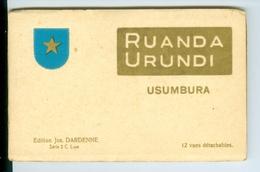 CP Détachables (12) En Carnet Ruanda Urundi Usumbura Editions Jos. Dardenne Série 2 C Luxe Vers 1935 - Ruanda-Urundi