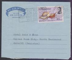 MAURITIUS Postal History, Aerogramme Used 4.4.1974 With Slogan Postmark - Maurice (1968-...)