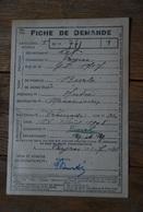 Rationnement - Fiche De Demande Payrac Lot - Documents Historiques