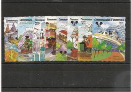DOMINIQUE 60ème Anniversaire De Mickey  Année 1987 N°Y/T : 987/994** Et Blocs N° 123/124** - Dominique (1978-...)