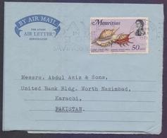 MAURITIUS Postal History, Aerogramme Used 24.7.1973 With Slogan Postmark - Mauritius (1968-...)